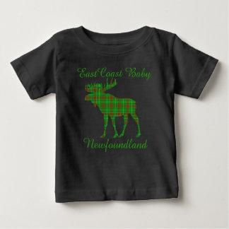 East Coast Baby Newfoundland tartan Moose Baby T-Shirt