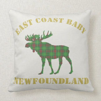 East Coast Baby Newfoundland Tartan Moose pillow