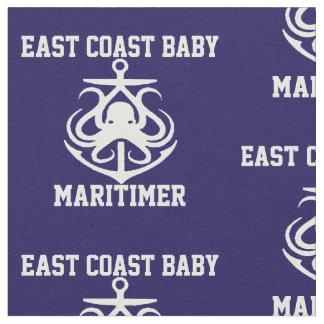 East coast  Baby Octopus anchor Fabric navy blue