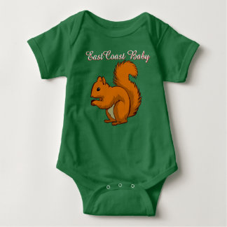 East Coast Baby squirrel one piece Tees