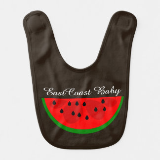 East Coast Baby watermelon fruit cute Bib