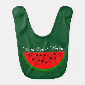 East Coast Baby watermelon fruit cute green Bib
