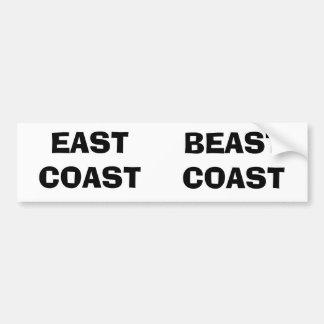 EAST COAST, BEAST COAST BUMPER STICKER