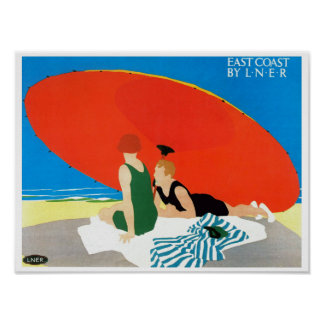 East Coast by LNER ~ Beach Umbrella Poster