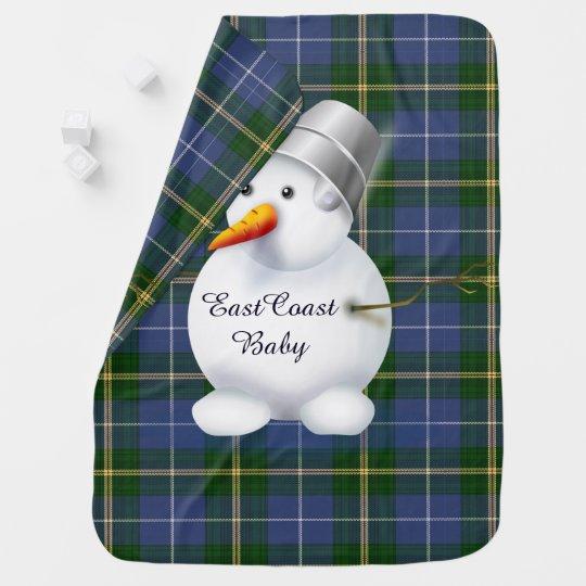 East Coast Christmas snowman Nova Scotia Tartan Baby