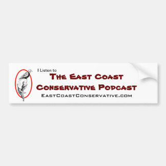East Coast Conservative Podcast Bumper Sticker