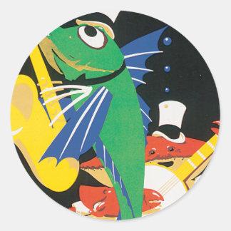 East Coast Frolics Round Sticker