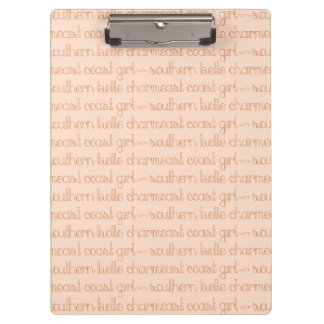 East Coast Girl with Southern Belle Charm Clipboard