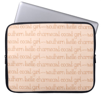 East Coast Girl with Southern Belle Charm Laptop Sleeve