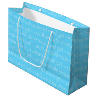 East Coast Girl with Southern Belle Charm Large Gift Bag