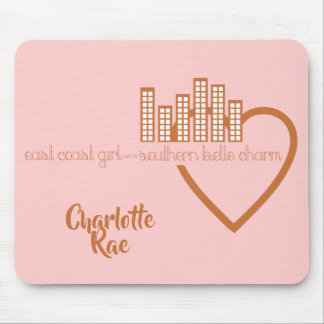 East Coast Girl with Southern Belle Charm Mouse Mat