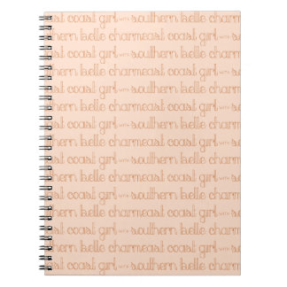 East Coast Girl with Southern Belle Charm Notebook