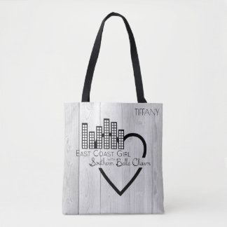 East Coast Girl with Southern Belle Charm Tote Bag