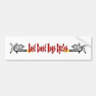 East Coast Hogs Cycles Bumper Sticker