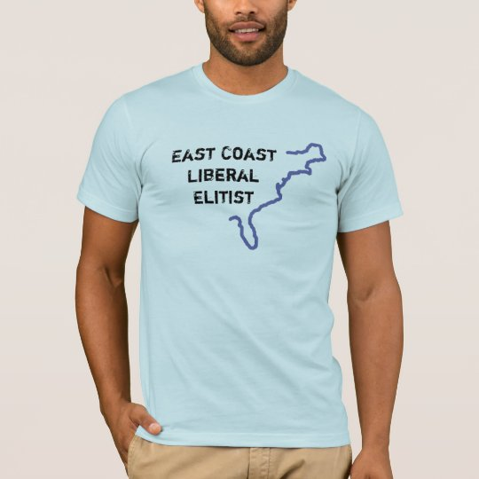 East Coast Liberal Elitist - Blue S/S T-Shirt