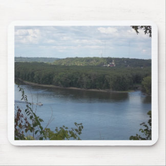 East Dubuque on the Mississippi River Mouse Pad