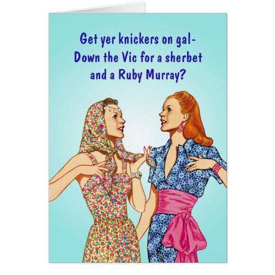 East End London Girls Card