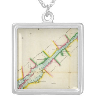EaSt. End of Lake Ontario and River St. Lawrence Silver Plated Necklace