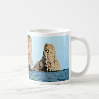 East end of Perce Rock from sea, late afternoon, Q Coffee Mug