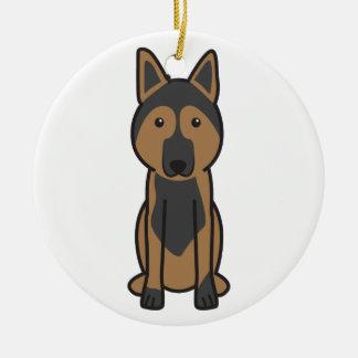 East European Shepherd Dog Cartoon Christmas Tree Ornaments