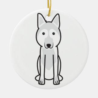 East European Shepherd Dog Cartoon Ornaments