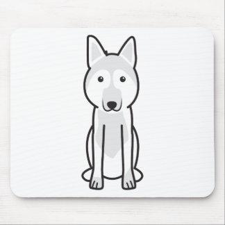 East European Shepherd Dog Cartoon Mouse Pad