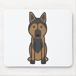 East European Shepherd Dog Cartoon Mousepads