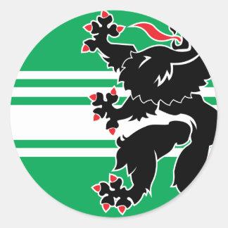 east flanders, Belgium Classic Round Sticker