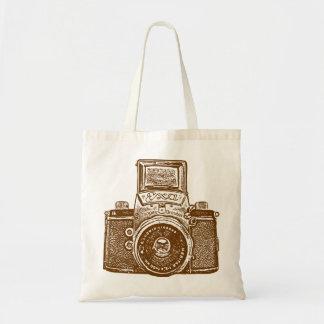 East German Camera - Brown Tote Bag