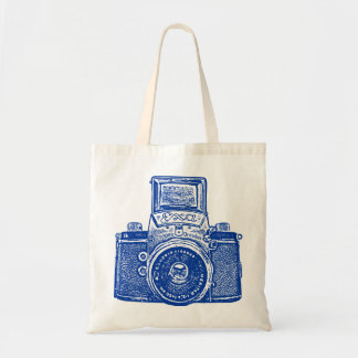 East German Camera - Dark Blue Tote Bag