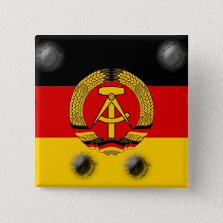 East German Flag 15 Cm Square Badge