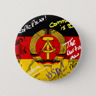 East German Flag 6 Cm Round Badge