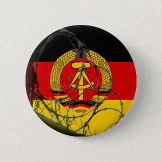 East German Flag 6 Cm Round Badge