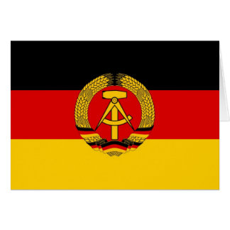 East German Flag Card