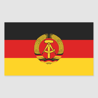 East German Flag Sticker
