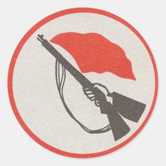 East German Workers' Militia Logo Round Sticker