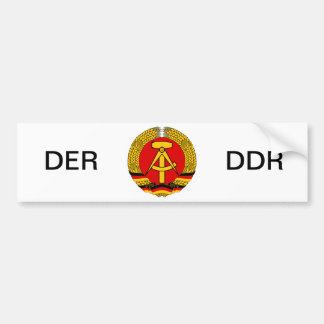 East Germany Bumper Sticker