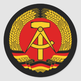 East Germany DDR Classic Round Sticker