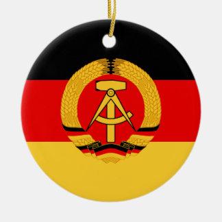 East Germany Flag Christmas Ornament