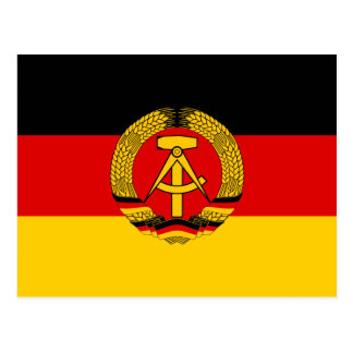 East Germany Flag Postcard
