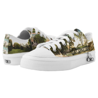 East Hampton, NY Vintage Postcards LowTop Sneaks Printed Shoes