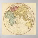 East Hemisphere  map Print