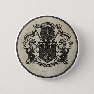 East India Company coat of arms 6 Cm Round Badge