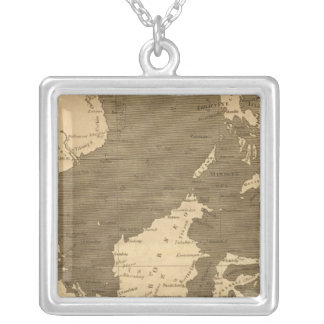 East India Islands Map by Arrowsmith Silver Plated Necklace