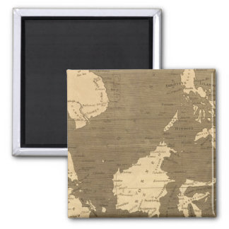 East India Islands Map by Arrowsmith Square Magnet