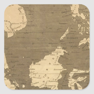 East India Islands Map by Arrowsmith Square Sticker