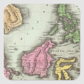 East India Isles 2 Square Sticker