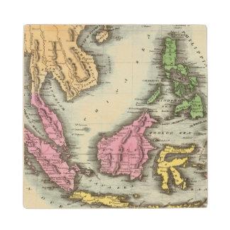 East India Isles 2 Wood Coaster