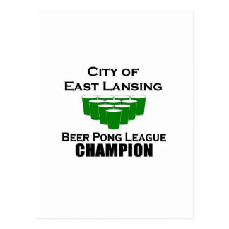 East Lansing Beer Pong Champion Post Cards
