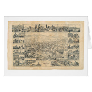 East Los Angeles, CA. Panoramic Map 1888 (0900A) Greeting Card